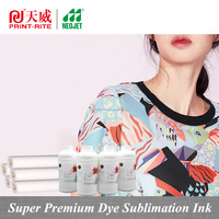 Print Rite Super Premium uv resistant dye sublimation ink for large machine print on coated and non coated paper