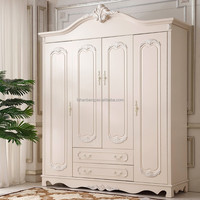 Modern High-quality fancy white bedroom wardrobe for wholesale