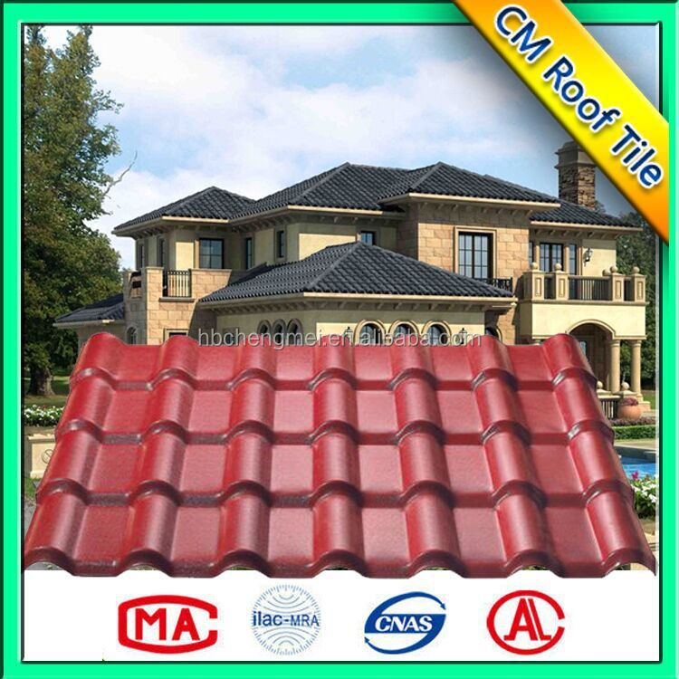 Self cleaning weather resistance ASA PVC roof tiles