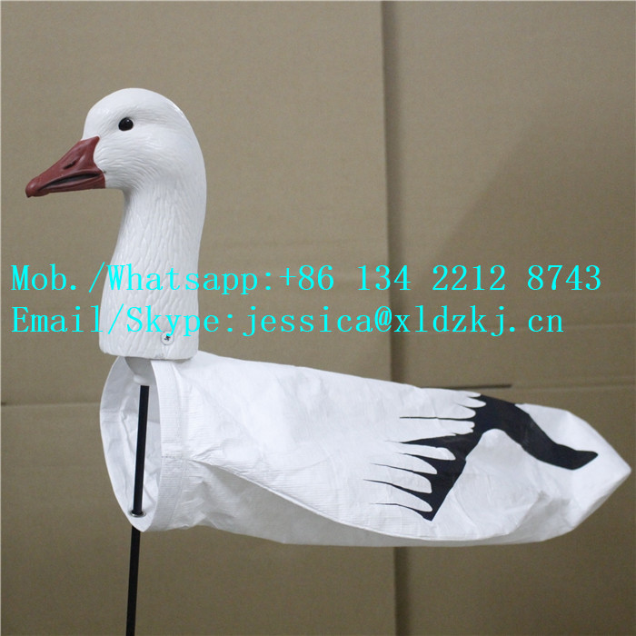 Wholesale 3D Headed Snow Goose Windsock Decoy For Hunting Goose