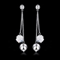 OUXI brand Classic lady Copper Austrian Crystal bling earring