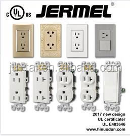 110v, 125v, 220v, 15A, UL certificate black electrical switches and sockets