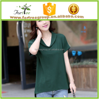 Korean fashion ladies T-shirt long sleeved loose in female shirt