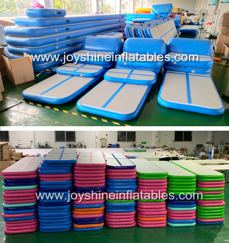 Customized Size Inflatable Airtrack Air Roller Gymnastics Tumbling Floor Mattress Yellow Inflatable Air Barrel For Sale