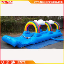 Commercial rainbow inflatable water slide for sale