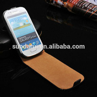 Mix colors Online wholesale Ultra Slim Flip Cover Case for Samsung Galaxy S3 Mini i8190