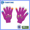 kids cartoon knitted gloves ,applique pattern gloves