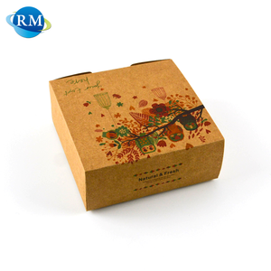 Various Size Corrugated Printed Food Grade Craft Paper Pizza Box