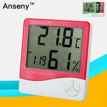 Large Display Digital Wall Clock With Thermometer Function