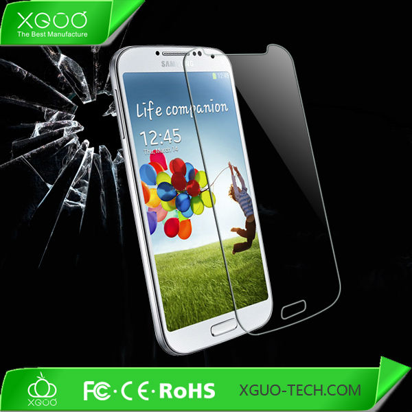 nice light transmit tempered glass screen protector for galaxy s4
