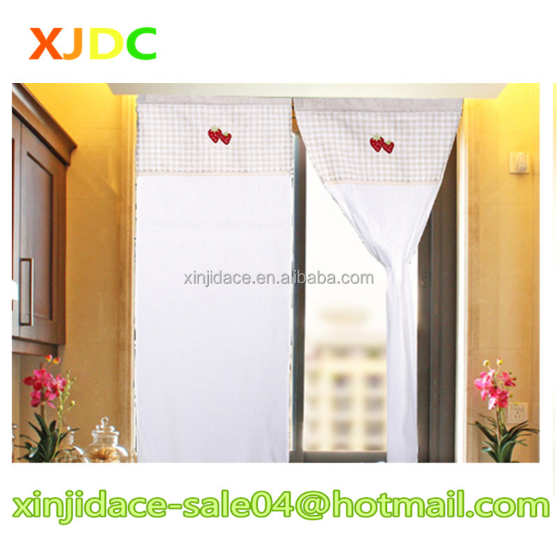 XJDC-039 Fancy design beautiful strawberry pattern unique colorful kitchen curtains