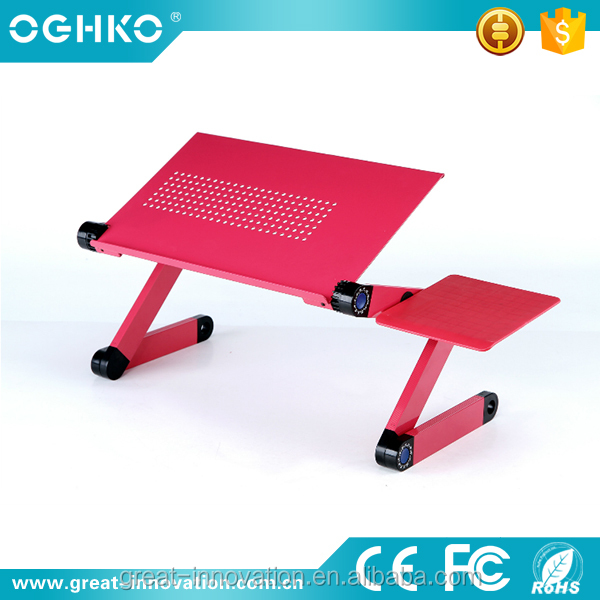 Multi-functional recliner notebook table use on floor stand