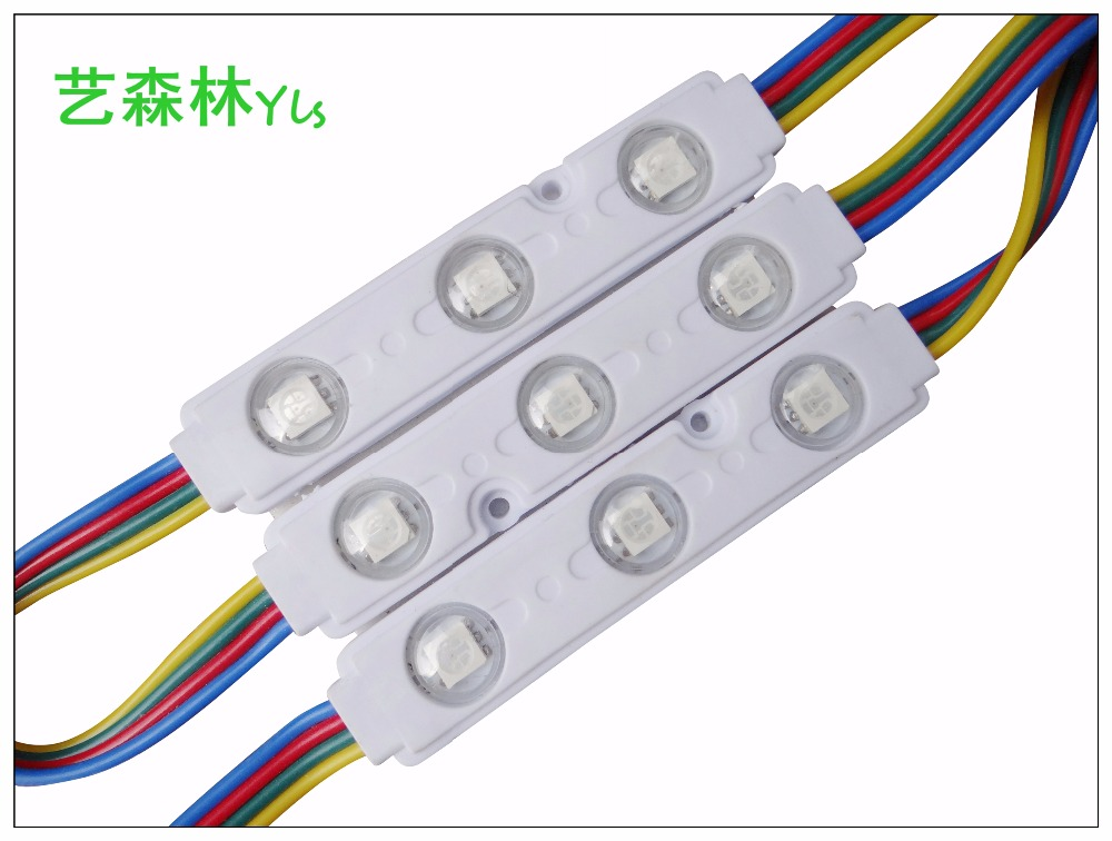 LED colorful <strong>module</strong> 5050 RGB three LED light injection mold 5050 Colorful injection molding <strong>module</strong>