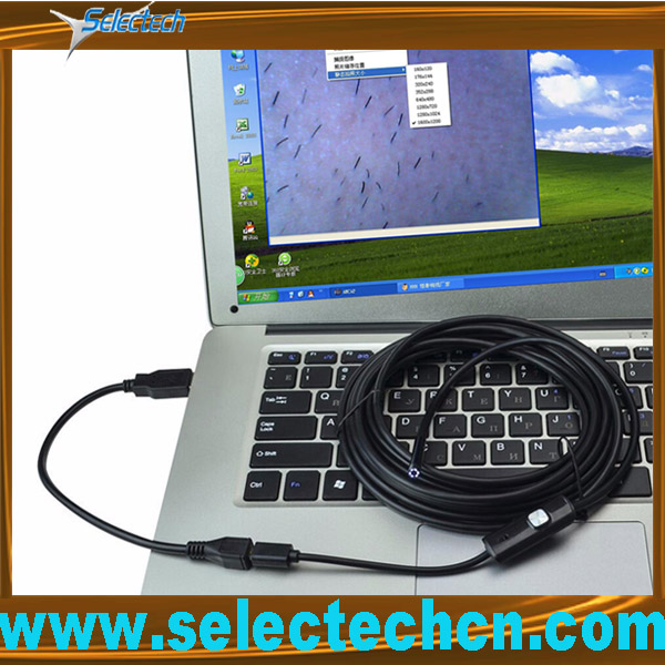 SE-E9 HD 2.0M pixel waterproof 9mm with 6 LED Android USB inspection camera borescope