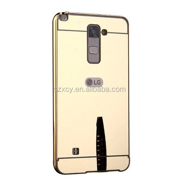 Factory direct supply metal+acrylic cell phone case for LG stylus 2