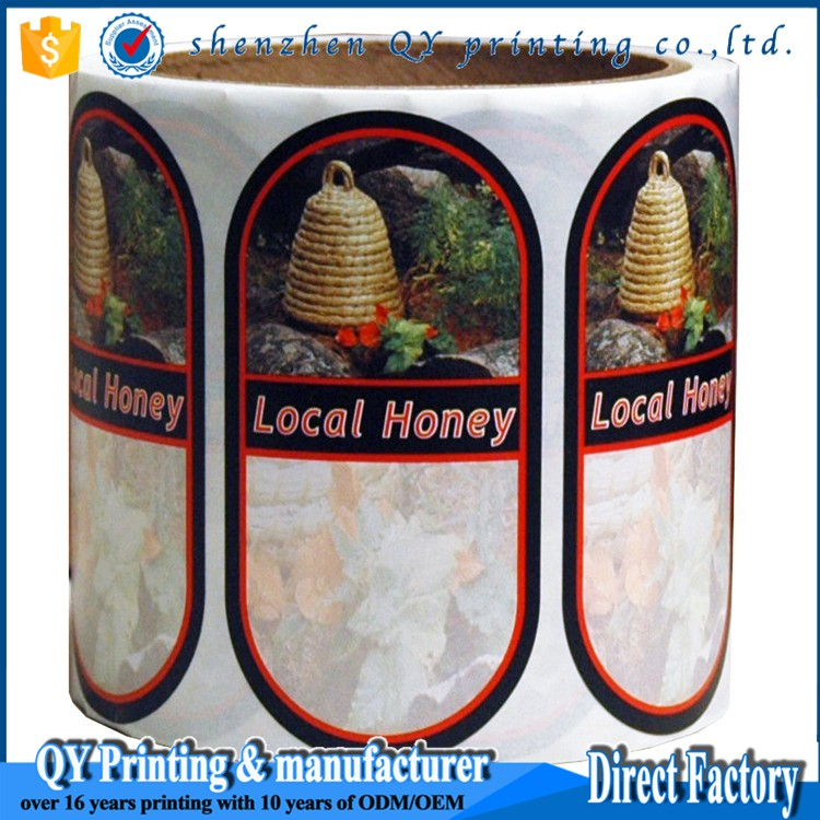 OEM bottle sticker permanent sticker honey label sticker