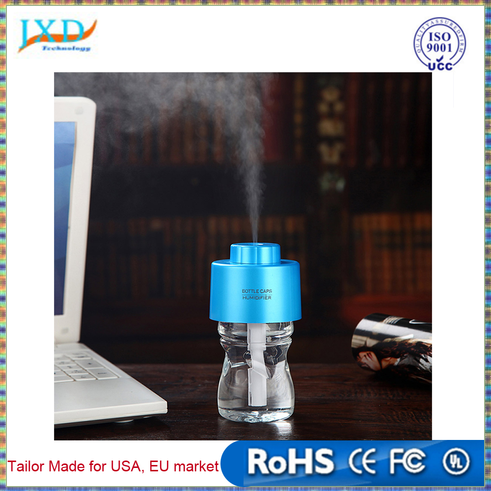USB Portable Office Air Diffuser Aroma Mist Maker with Bottle+2pcs Absorbent Filter Sticks ABS Water Bottle Cap Humidifier DC 5V