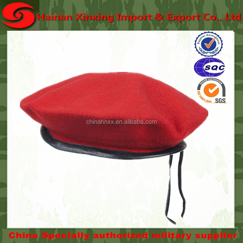Wholesale beret cap Customized Fashion Military Beret Hats