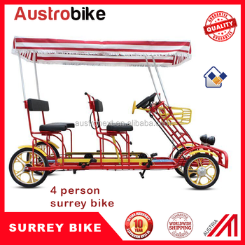 surrey bike 4 person bike tandem bike 4 people bike