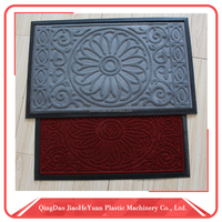 easy cleaning rubber backed bathroom floor mats