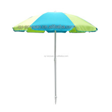 china twist-in beach sunshade umbrella parasol for outdoor sand beach in polyester fabric