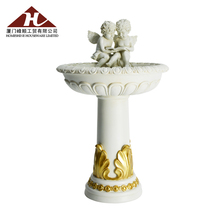 Resin Angel Water Feature Solar Bird Bath