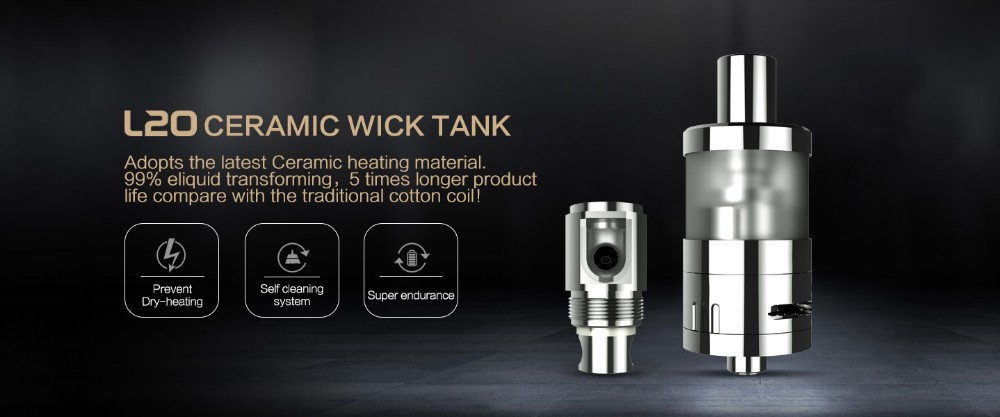 electronic cigarette accessories ceramic wick L20 Ceramic Wick Tank high quality ego kit