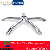 Aluminum die casting office chair base stainless steel XJ006