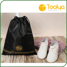 Plain Black Gym Swim Drawstring Bag Outdoor Storage Bag Waterproof Backpack Customization Logo