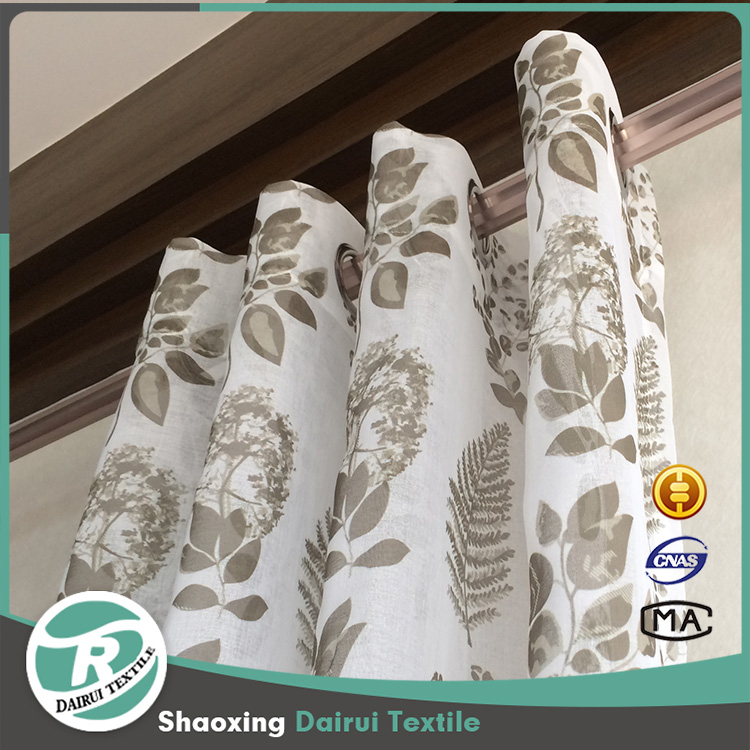 Tree printed new style curtains used hotel drapes