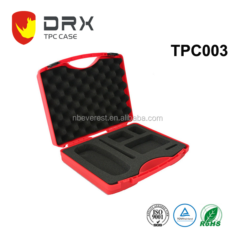 Plastic Tool Carry Case, Product Packaging Boxes, Pistol Carrying Case with Custom Logo Printing and Foam Inside