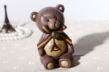 cartoon bear coin bank/custom cartoon vinyl toy/oem making plastic toy manufacturer
