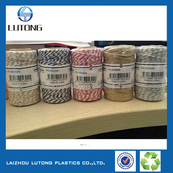 100% cotton dyed colour packing gift twine for Christmas day