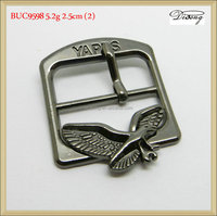 BUC9598 25mm black ladies clasp belt buckle with eagle