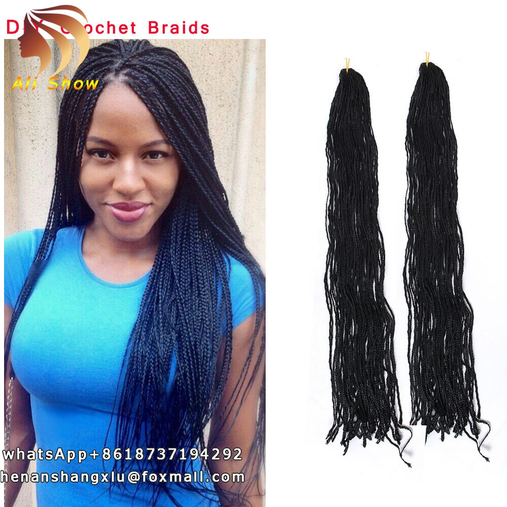 Russian Crochet Box Braids Long 28inch High Temperature Synthetic Braiding <strong>Hair</strong> 28strand/pack Synthetic Crochet <strong>Hair</strong> Extensions