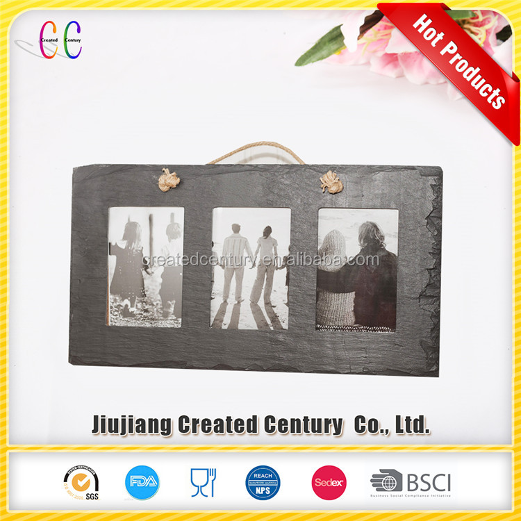 Christmas product sale natural slate photo frame 16x20 slate picture frame
