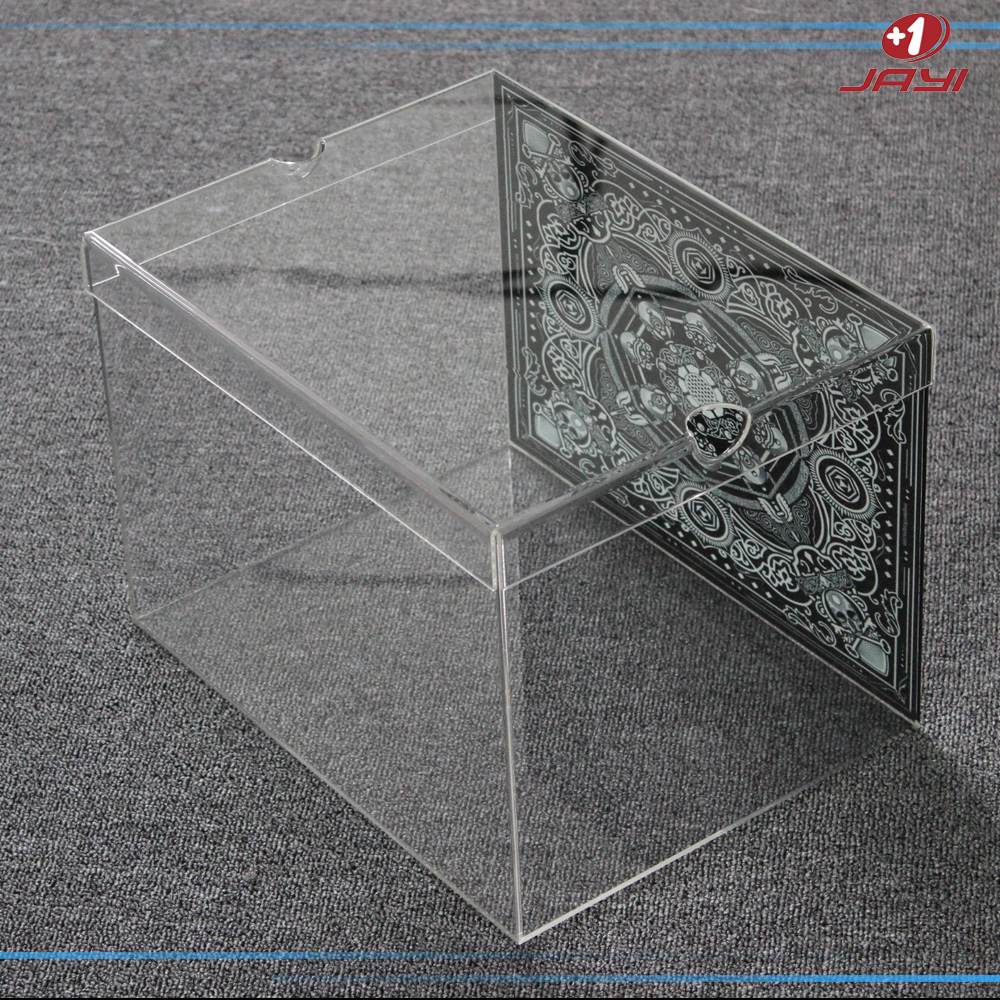 Custom made gros lucite plastique transparent mini for Vitrine plastique transparent