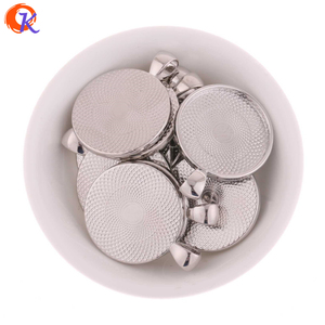 27MM Edge Silver Round Trays Cabochon Setting Pendant Blank Tray Jewelry Accessories Top Quality Style For Woman Making
