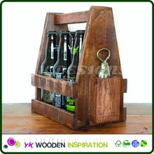 Beer caddy 12 Package Box Custom Logo Custom Wooden Box