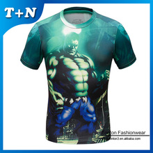polyester/cotton running t shirt for men, t shirt printing