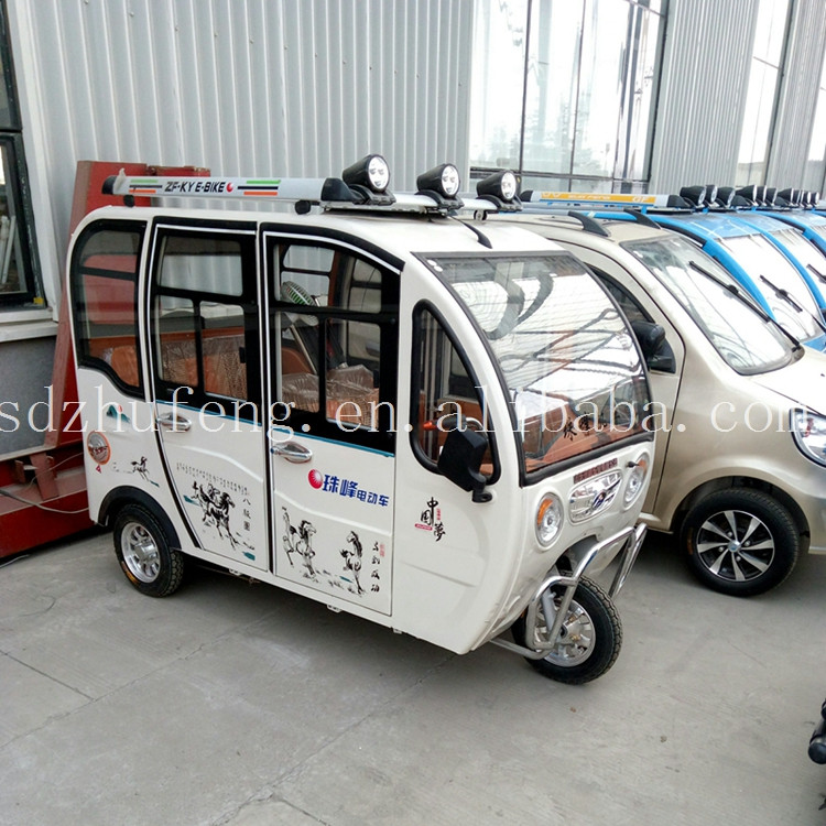 High performance enclosed 3 wheel electric bike taxi