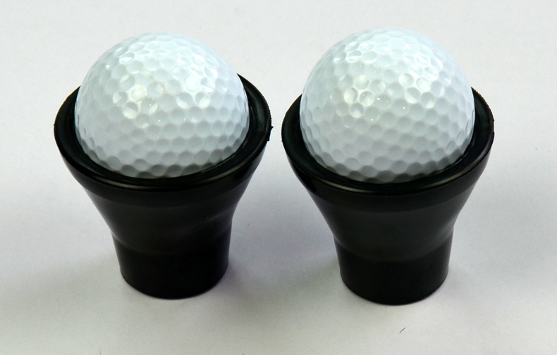 Black plastic mini golf ball picker up cup Pick Up Picker Suction Cup