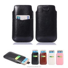 Leather Slim Sleeve Pouche Card Pocket Pouch Pull Tab Case Cover For LG G2 G3 G4