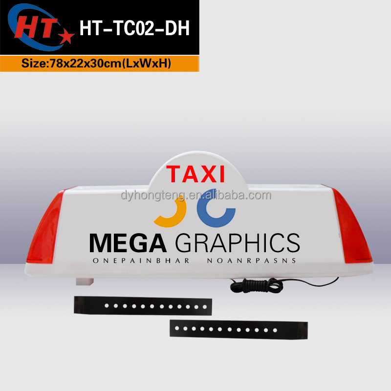 Waterproof blank white led light sign london taxi