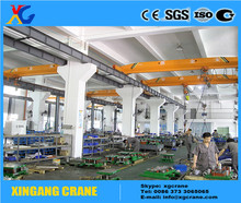 Steel workshop machine overhead crane 10t with electric hoist
