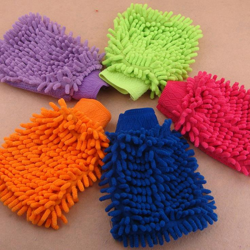 Chenille Microfiber cleaning Glove for car Household Cleaning Gloves