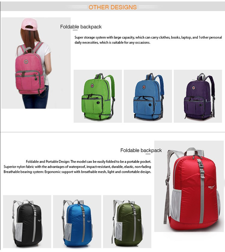 Custom Promotion Organizer Waterproof Nylon Foldable Travel Bag For Travelling