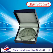Metal customized design india rare coins with black paper box,3D round souvenir zinc alloy casting antique silver medallion