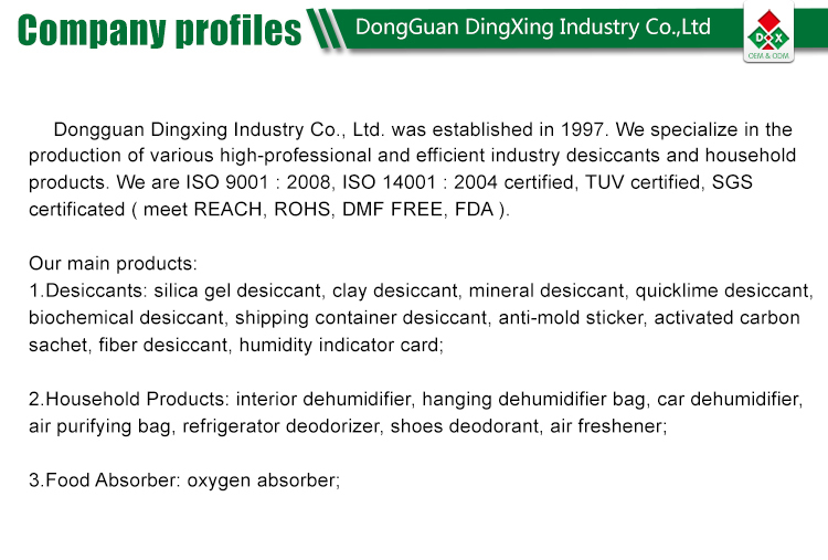FDA 30cc Oxygen Absorber Packets for Food Grade in China