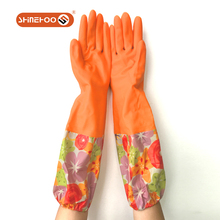 SHINEHOO Extra Long Sleeve Household Rubber Cleaning Gloves